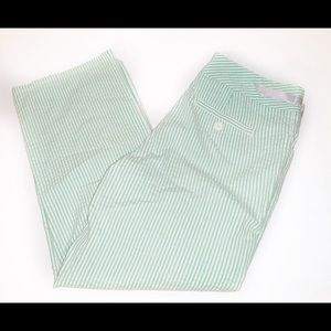 Izod Stretch Green White Stripe Capris Size 4